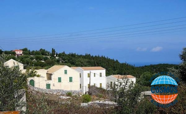 TRADITIONAL HOUSE FOR SALE WITH UNFINISHED TOURIST APARTMENTSON PLOT IN GERMENATA, KEFALONIA